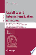 Usability and Internationalization  HCI and Culture