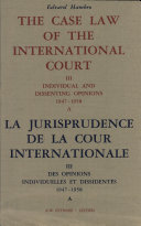 the case law of the international court