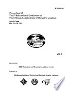 Proceedings of the 5th International Conference on Properties and Applications of Dielectric Materials