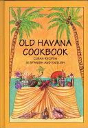 Old Havana Cookbook Book