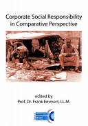 Corporate Social Responsibility in Comparative Perspective