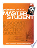 The Essential Guide to Becoming a Master Student Book