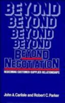 Cover of Beyond Negotiation