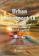 Urban Transport IX Book