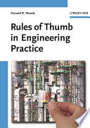 Rules of Thumb in Engineering Practice Book