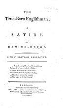 The true born Englishman. A satire. By Daniel D'Foe ebook
