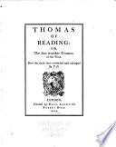 Thomas Of Reading Or The Sixe Worthie Yeomen Of The West