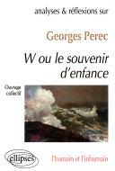 Analyses et réflexions sur...Georges Perec