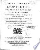 Cours complet d'optique, traduit de l'anglois de Robert Smith...
