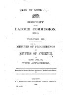 Minutes of Evidence and Minutes of Proceedings   pt  1 2   March April  1894  with appendices