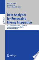 Data Analytics for Renewable Energy Integration