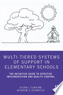 Multi Tiered Systems Of Support In Elementary Schools
