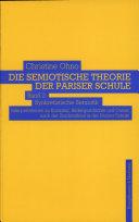Die semiotische Theorie der Pariser Schule