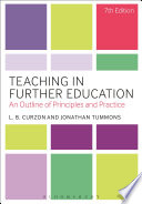 """Teaching in Further Education: An Outline of Principles and Practice"" by L. B. Curzon, Jonathan Tummons"