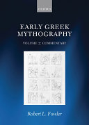 Early Greek Mythography