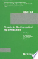 Trends in Mathematical Optimization