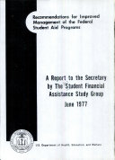 Recommendations for Improved Management of the Federal Student Aid Programs