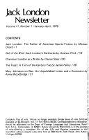 Jack London Newsletter