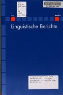 Linguistische Berichte