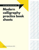 Modern Calligraphy Practice Book Sheets Hand Lettering Lined Super Simple Paper Workbook For Beginners