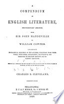 A Compendium of English Literature
