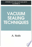 """""""Vacuum Sealing Techniques"""" by Alexander Roth"""