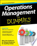 Operations Management For Dummies Book