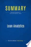 Summary: Lean Analytics