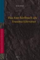 Das Ezechielbuch als Trauma Literatur