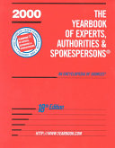 The Yearbook of Experts  Authorities and Spokespersons Book