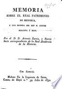 Memoria sobre el Real patrimonio de Menorca  y una moneda del Rey D  Alonso relativa    ella Book PDF