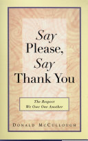 Say Please  Say Thank You