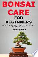 Bonsai Care for Beginners