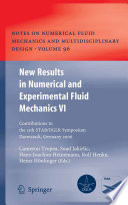 New Results in Numerical and Experimental Fluid Mechanics VI Book