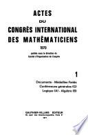 Proceedings of the International Mathematical Congress Held ...