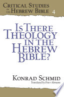 Is There Theology in the Hebrew Bible