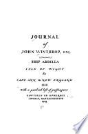 Journal of John Winthrop, Esq