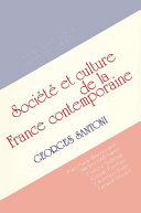 Pdf Contemporary French Culture and Society Telecharger