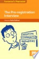 Cover of The Pre-Registration Interview