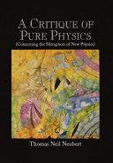 Pdf A Critique of Pure Physics