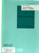 Journal of Hydrometeorology Book