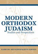 Modern Orthodox Judaism