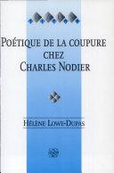 Pdf Poétique de la coupure chez Charles Nodier Telecharger