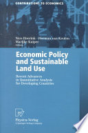 Economic Policy and Sustainable Land Use
