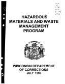 Hazardous Materials and Waste Management Program