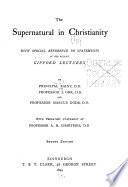 The Supernatural in Christianity Book