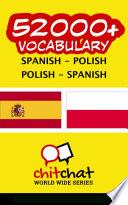 52000  Spanish   Polish Polish   Spanish Vocabulary Book