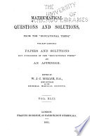 Mathematical Questions and Solutions in Continuation of the Mathematical Columns of  the Educational Times   Book PDF