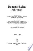 Romanistisches Jahrbuch