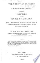 The Christian Ministry And Church Membership According To Scripture And The Church Of England With A More Especial Reference To The Views Of Certain Christians Generally Known As The Plymouth Brethren Book PDF